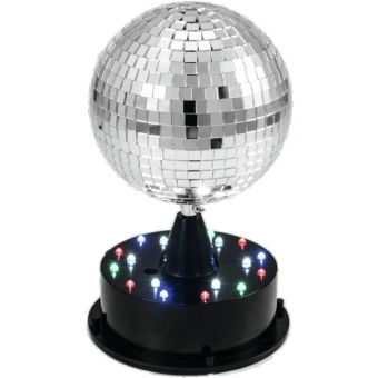 EUROLITE LED Mirror Ball 13cm w/Illuminated Base
