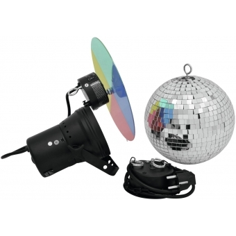 EUROLITE Mirror Ball Set 20cm with Pinspot