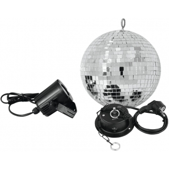 EUROLITE Mirror Ball Set 20cm with LED Spot #1