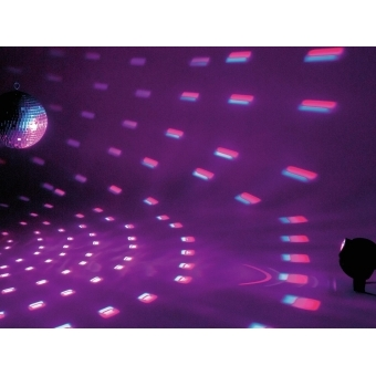 EUROLITE Mirror Ball Set 30cm with LED RGB Spot RC #4