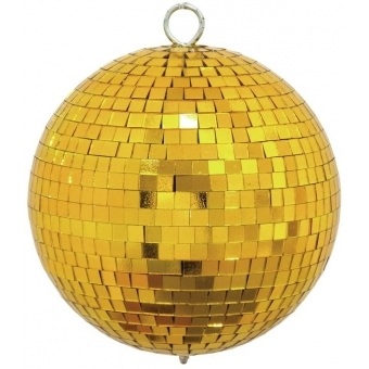 EUROLITE Mirror ball 15cm gold