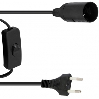 EUROLITE E-14 Socket Power Cable, Plug, Switch