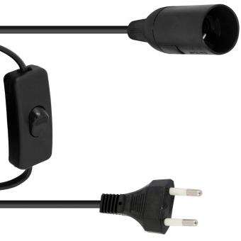 EUROLITE E-27 Socket Power Cable, Plug, Switch