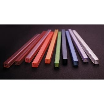 EUROLITE Tubing 10x10mm red UV-active 2m #3