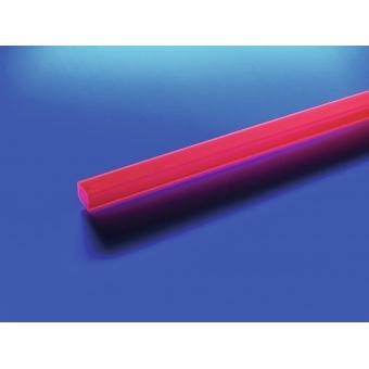 EUROLITE Tubing 10x10mm red UV-active 4m #2
