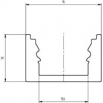 EUROLITE U-profile for LED Strip silver 4m #6