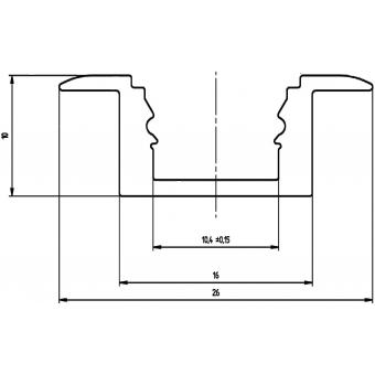 EUROLITE U-Profil MSA für LED Strip silver 2m #8