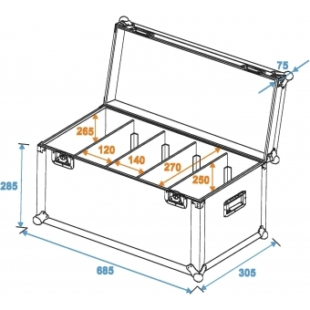 ROADINGER Flightcase 4x PRO Slim Size M #5
