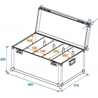 ROADINGER Flightcase 4x PRO Slim Size L #5