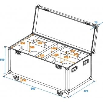ROADINGER Flightcase 2x DMH-90/150/DMB-60/PLB-230 #8