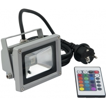 EUROLITE LED IP FL-10 COB RGB 120° RC #1