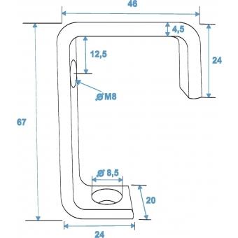 EUROLITE TH-25 Clamp for 25mm Tube sil #2