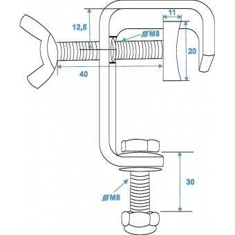 EUROLITE TH-25 Clamp for 25mm Tube sil #3
