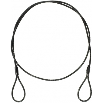 EUROLITE Steel Rope 900x3mm black without q.link