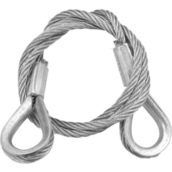 EUROLITE Steel Rope 600x3mm silver with Thimbles