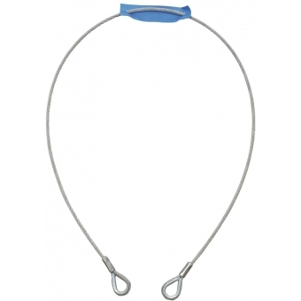 EUROLITE Steel Rope 1000x4mm silver with Thimble