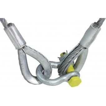 EUROLITE Lifting Rope 1500x10mm w. Shackle -400kg #2