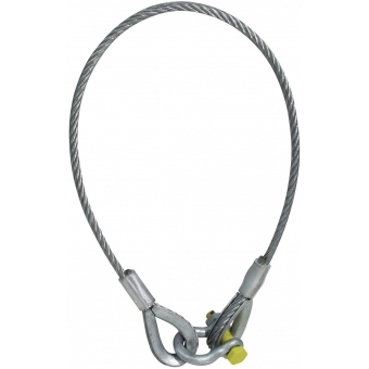 EUROLITE Lifting Rope 2000x10mm w. Shackle -400kg