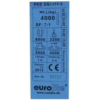 EUROLITE Round Sling 1m, max. Load 4000KG #2