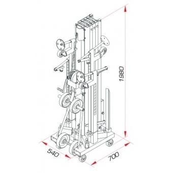 GUIL ULK-800 Load lifter 230kg 8m 60mm #7