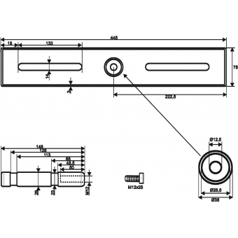 EUROLITE TAH-52 Truss Adapter w/ TV Pin #4