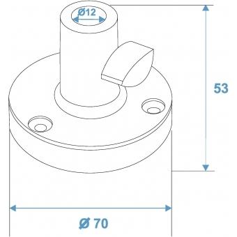 OMNITRONIC Holder Type B f. Table-Microphone Arm bk #3