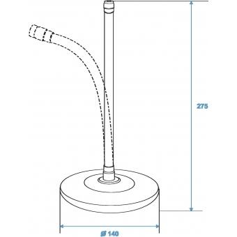 OMNITRONIC Mic-Table Stand 25cm Gooseneck sil #3