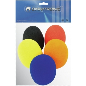 OMNITRONIC Microphone Windshield Set, 5 colors #3