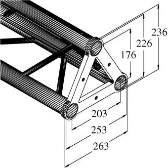 ALUTRUSS TRISYSTEM PST-200 3-way cross beam #2