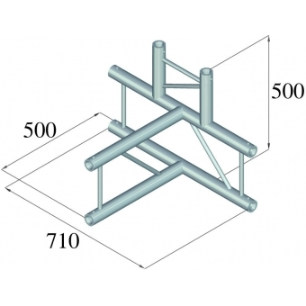 ALUTRUSS BILOCK BQ2-PAT42H 4-way T-piece