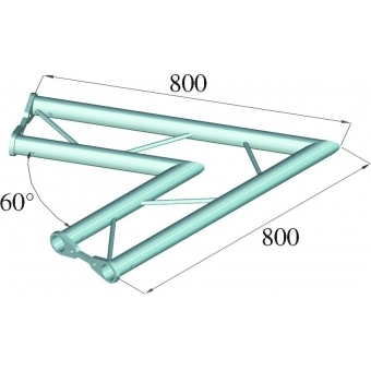 ALUTRUSS BISYSTEM PH-20 2-way 60° horizontal #2