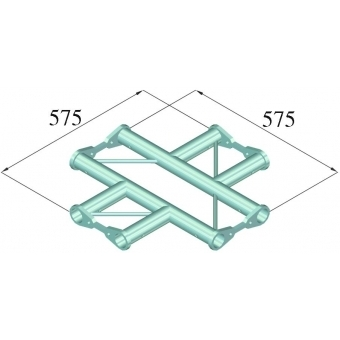 ALUTRUSS BISYSTEM PH-41 4-way cross horizontal #2
