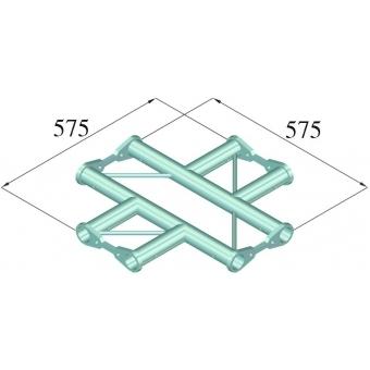 ALUTRUSS BISYSTEM PH-41 4-way cross horizontal #2