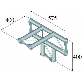 ALUTRUSS BISYSTEM PH-42 4-way T-piece horizontal #2