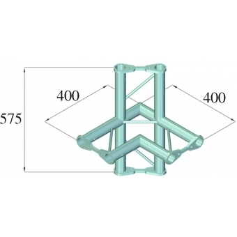 ALUTRUSS BISYSTEM PH-44 4-way corner horizontal #2