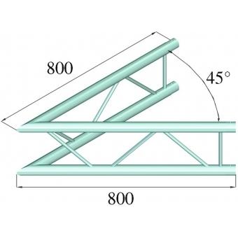 ALUTRUSS DECOLOCK DQ2-PAC19V 2-way Corner 45° #2