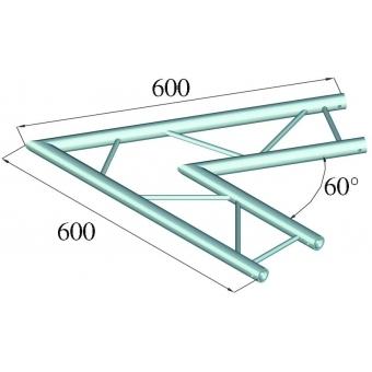 ALUTRUSS DECOLOCK DQ2-PAC20H 2-way Corner 60° #2