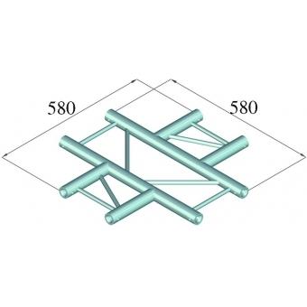 ALUTRUSS DECOLOCK DQ2-PAC41H 4-way Cross Piece #2