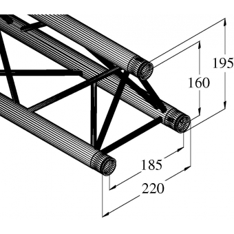 ALUTRUSS DECOLOCK DQ3-200 3-Way Cross Beam #2