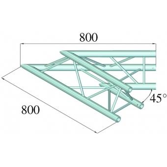 ALUTRUSS DECOLOCK DQ3-PAC19 2-Way Corner 45° #2