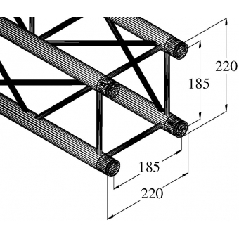 ALUTRUSS DECOLOCK DQ4-250 4-Way Cross Beam #6