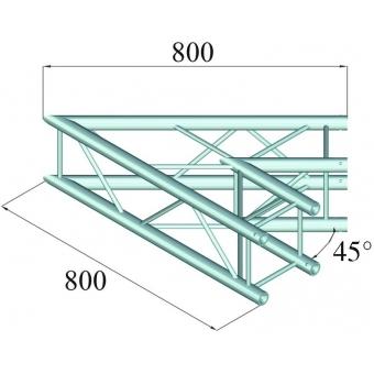 ALUTRUSS DECOLOCK DQ4-PAC19 2-Way Corner 45° #2