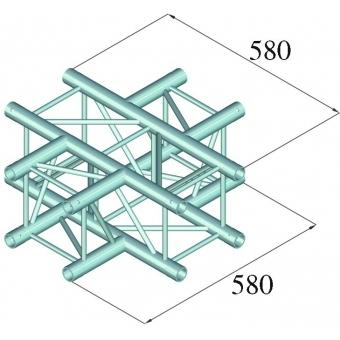 ALUTRUSS DECOLOCK DQ4-PAC41 4-Way Cross Piece #2
