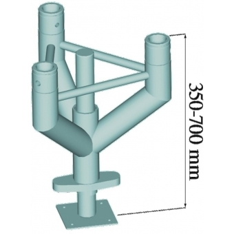 ALUTRUSS TRILOCK Leveling Pedestral TNF-300 #2