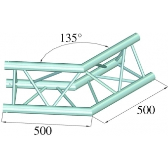 ALUTRUSS TRILOCK E-GL33 C-23 2-Way Corner 135° #5