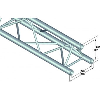 ALUTRUSS TRILOCK 6082-3500 3-Way Cross Beam #2
