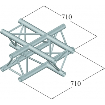 ALUTRUSS TRILOCK 6082AC-41 SU 4-Way Cross #2