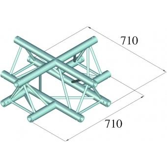 ALUTRUSS TRILOCK 6082AC-41 4-Way Cross #2