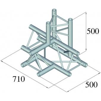 ALUTRUSS TRILOCK 6082AT-42 4-Way Piece / #2