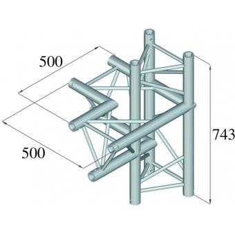 ALUTRUSS TRILOCK 6082AC-44 4-Way Piece / left #2
